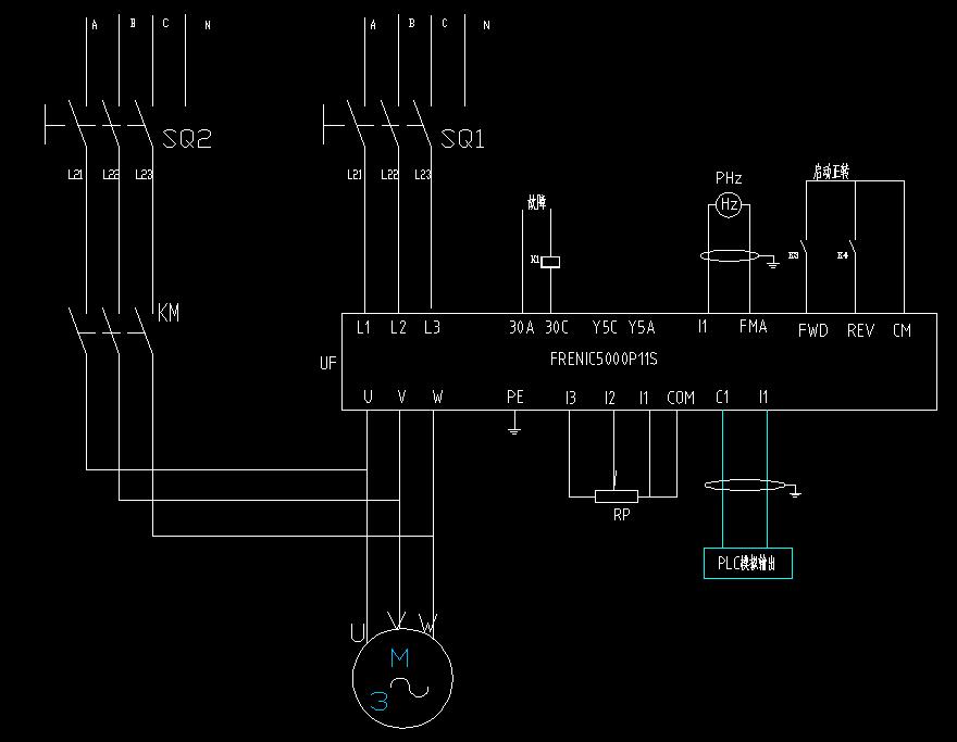 变频器输出端为什么不能接电源