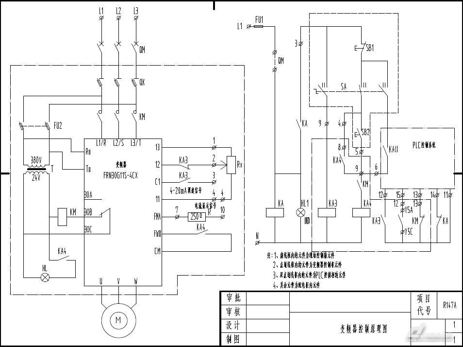 富士变频器控制原理图